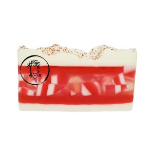 Holiday Peppermint Soap Slice