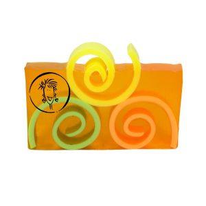 Orange Cantaloupe Soap Slice