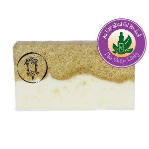 Spearmint and Eucalyptus Soap Slice