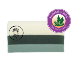 Peppermint Essential Oil Soap Slice